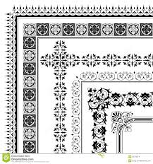 Ornamental Corner Border Made Multiple Black Decorative Frames