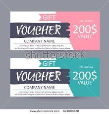 discount gift card gift voucher template discount certificate gift stock vector