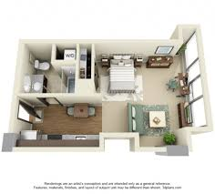 one bedroom apartment plans and designs small studio apartment