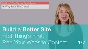 first thing u0027s first plan your website content 1 7 youtube