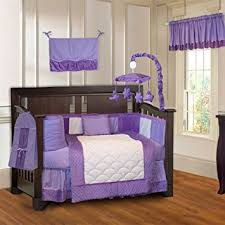 amazon com babyfad minky purple 10 piece baby crib bedding set