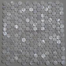 online shop 11pcs white penny round shell mosaic mother of pearl online shop 11pcs white penny round shell mosaic mother of pearl tile decoration wall bathroom kitchen backsplash fireplace border wallpaper aliexpress