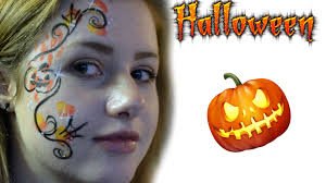 halloween pumpkin eye design face paint tutorial splash