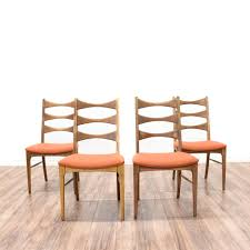 Mid Century Dining Chairs Upholstered Buy Set Of 4 Bow Tie Ladder Back Dining Chairs Small Dining Rooms
