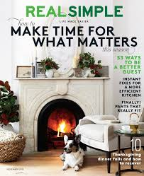 Real Simple Magazine by The Italiagal 2015