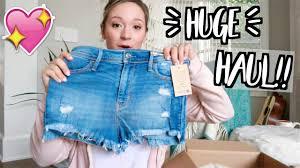 Hollister Clothes For Girls Huge Spring Clothing Haul I U0027m A Hollister Model Youtube