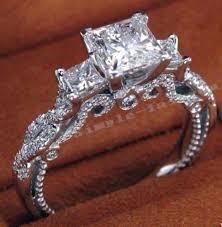 vintage sterling rings images Vintage women ring 925 sterling silver princess cut 2ct gem aaaaa jpg