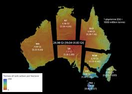 territories of australia map soil carbon map sets a baseline for future gains