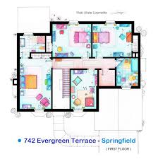winsome design blueprint of the simpsons house 10 home act