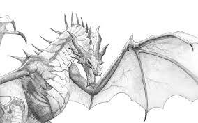 skyrim dragon by seigner on deviantart