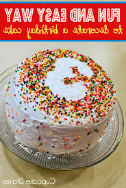 how to decorate a cake at home simple decorations for birthday decorating of party