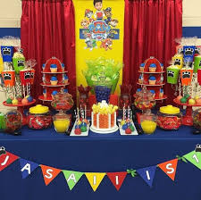 paw patrol candy table ideas boys paw patrol dessert table jed sienna s party pinterest