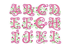coupon codes cute alphabet applique machine embroidery design