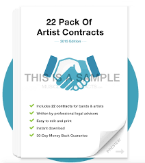 band contract template pricing band partnership agreement