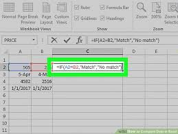 excel compare two tables find only matching data 3 ways to compare data in excel wikihow