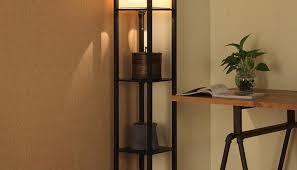 Rustic Floor Lamps Rustic Floor Lamp With Shelf Oregonuforeview Com