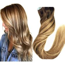 Color Hair Extension by Color 4 To P4 27 Chocolate Brown Ombre Balayage Blonde Highlights