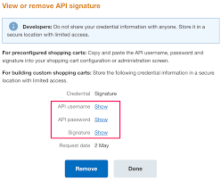 Signature How To Get Paypal Api Username Password And Signature Information