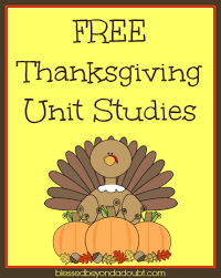 free thanksgiving unit studies for all