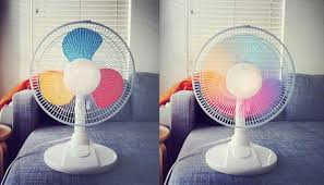 this diy rainbow fan is totally cool things