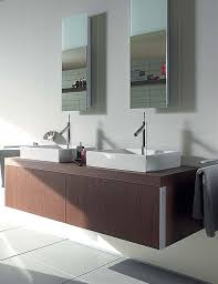 Duravit Vanity Basin Duravit Starck 1 Oak Finish Wall Mounted Vanity Unit 1435 X 565mm