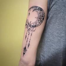 tatto ideas 2017 ornamental moon by mclain