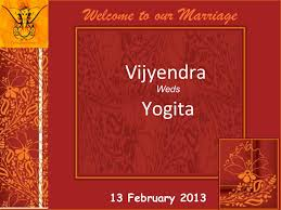 marriage wedding cards wedding invitation vijyendra yogita 13 feb 2013