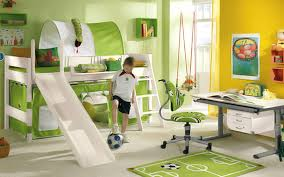 Wooden Kids Desks by Kids Room Interior Kids Bedroom Ideas With Green Fabric Vertical