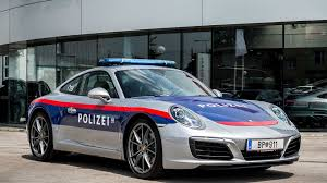 police car this porsche 911 carrera police car will patrol austria u0027s