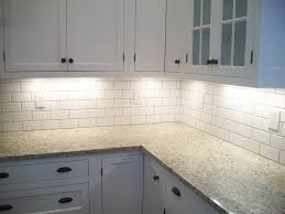 Small Kitchen Backsplash Granite Countertop Subway Tile Backsplash Off White Cabinets For