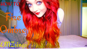 how to put red hair in on the dide with 27 pieceyoutube how to fire ombré hair dye tutorial how i put my extensions in