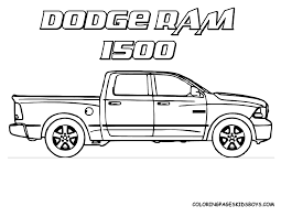 truck color pages funycoloring