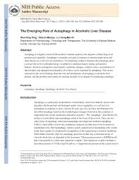 the emerging role of autophagy in alcoholic liver disease pdf