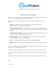 sample quotation doc insurance quote letter template 44billionlater