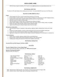 Interior Designer Degree Interior Design Resume U2013 Inssite