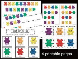 bear patterns pdf instant download busy bag preschool