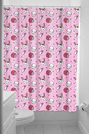 Skull And Crossbones Shower Curtain Sourpuss Zombie Bunny Shower Curtain Home Decor Pinterest