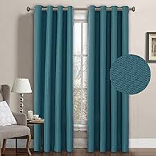 Teal Curtains Turquoize Solid Blackout Drapes Room Darkening Teal