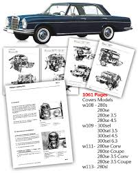 mercedes workshop service manual w108 w109 w111 w113 280se 3 5 4 5