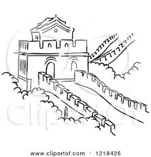 great wall of china clipart great wall of china silhouette
