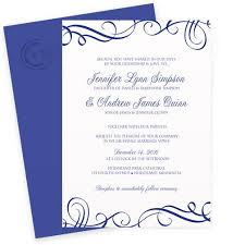 royal blue wedding invitations wedding invitation template 5 x 7 swirls royal blue