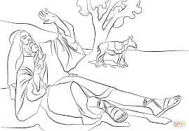 paul blinded on the road to damascus coloring page free