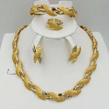 new fashion gold necklace images 2018 new fashion dubai gold jewelry sets elegant line crystal jpg