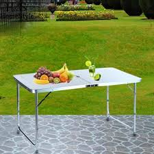 folding cing picnic table ancheer 4ft cing folding table with carrying handle small table