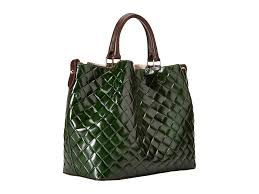 city green prix dooney u0026 bourke city woven large barlow in green lyst