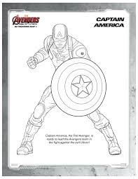 marvel avengers captain america coloring printable coloring