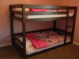 Easy And Strong 2x4 U0026 2x6 Bunk Bed 6 Steps With Pictures by Diy Bunk Bed Plans I Like That The One On Bottom Is Pretty Much
