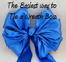 how to make tie a wired ribbon wreath bow the easiest way wreath