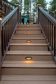 deck stair lights home design