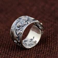 vintage flower rings images Vintage gardenia flower ring in pure 990 silver lifeisnowemporium jpg
